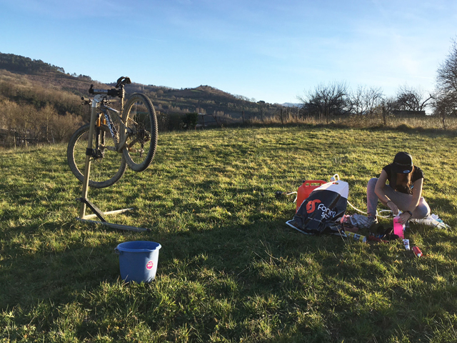 limpiar la Mountain Bike