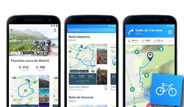 Las mejores apps para navegar en bici con tu móvil