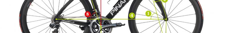 geometría de una bicicleta