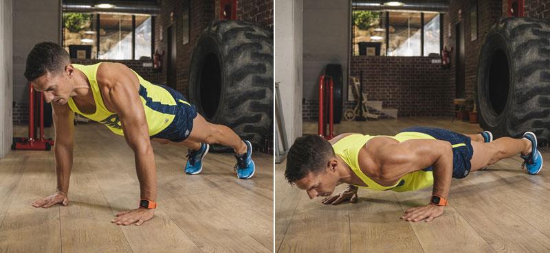 mantener la forma y ganar fuerza: flexiones