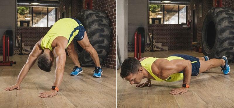 mantener la forma y ganar fuerza: plancha en V invertida