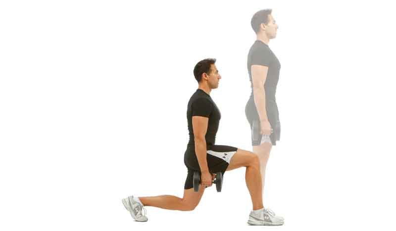 La mejor manera de hacer una zancada y no dañar las rodillas
