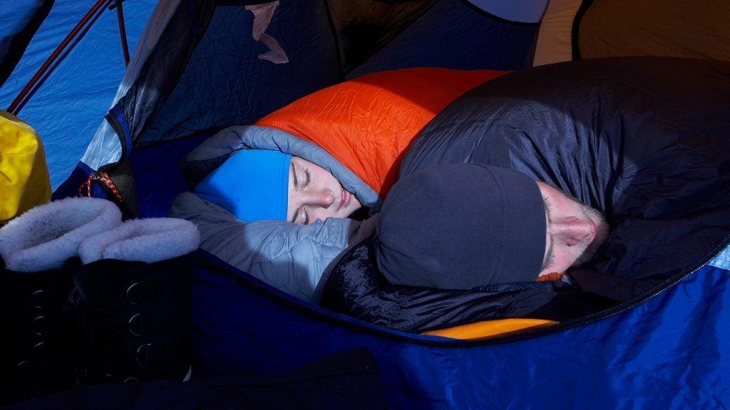 OUTAD Saco de Dormir con Cremallera para Acampada