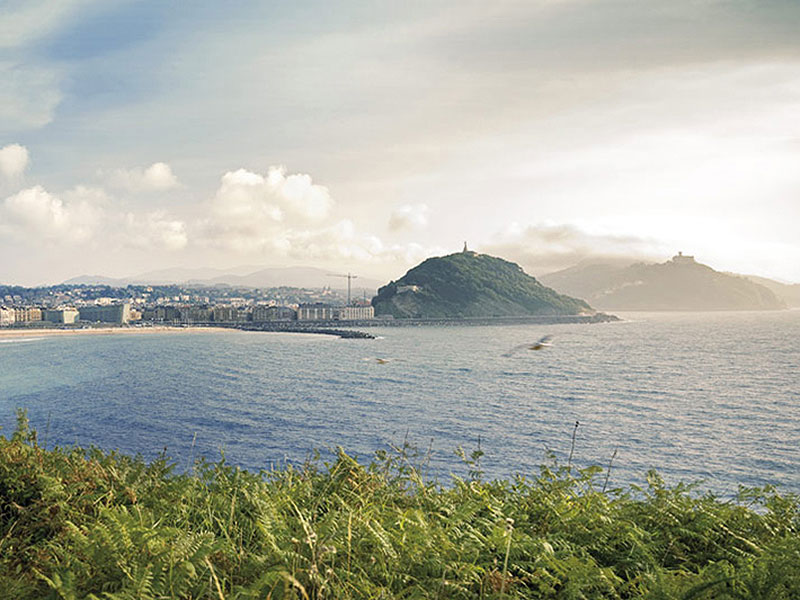 Excursiones para ir al monte a pie o en transporte público desde casa. San Sebastián: Monte Ulía ∆ 235 m.