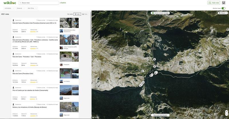 Cómo encontrar por Internet las mejores rutas de montaña para este verano: Wikiloc