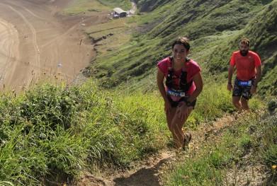 Alma Obregón en prueba de Trail