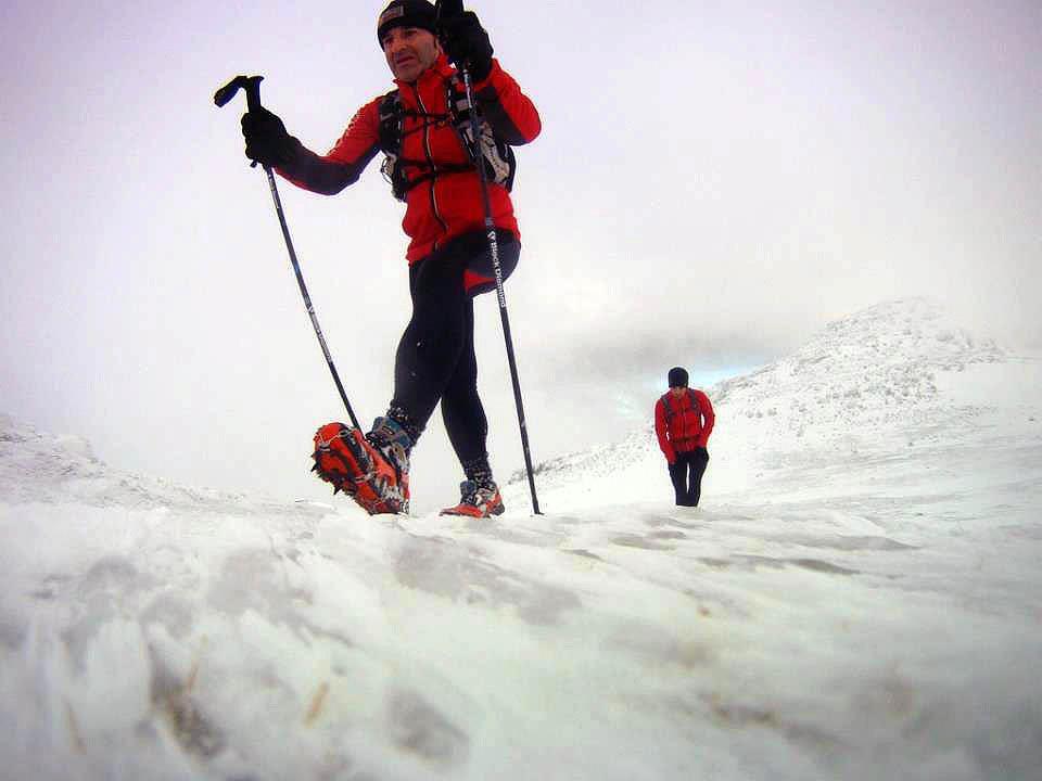 corredor en la nieve